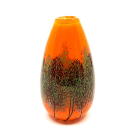 ROBERT HELD SMALL ROUND TEARDROP SUNSET SCAPE VASE