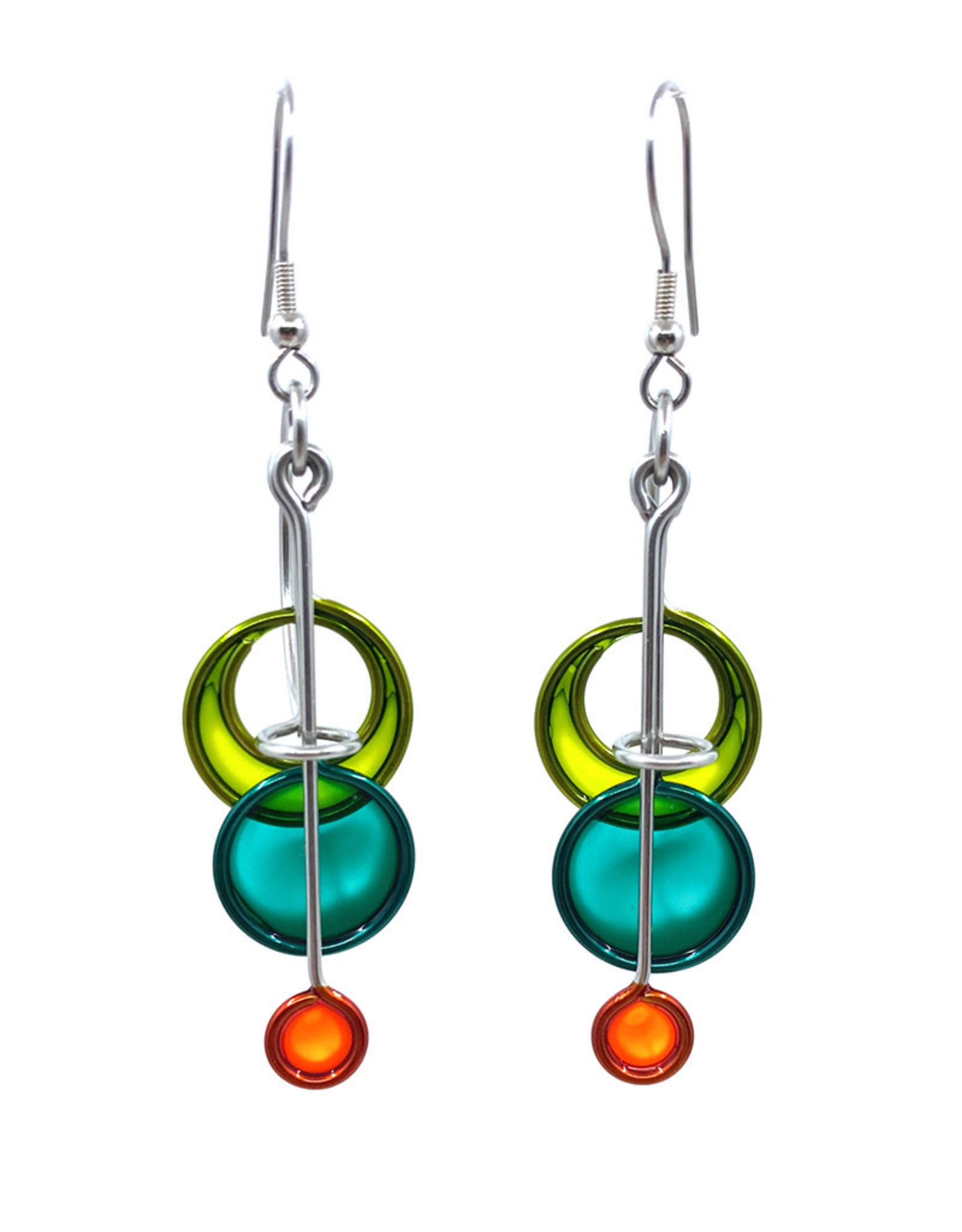 CHRISTOPHER ROYAL TRIPTYCH EARRINGS
