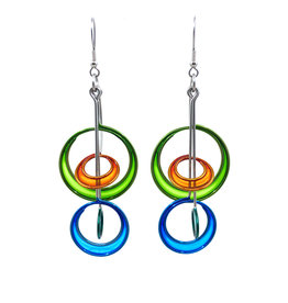CHRISTOPHER ROYAL DOUBLE MOON DROP EARRINGS