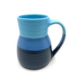 ONE ACRE CERAMICS BOTTLE MUG - BLUE & DARK BLUE