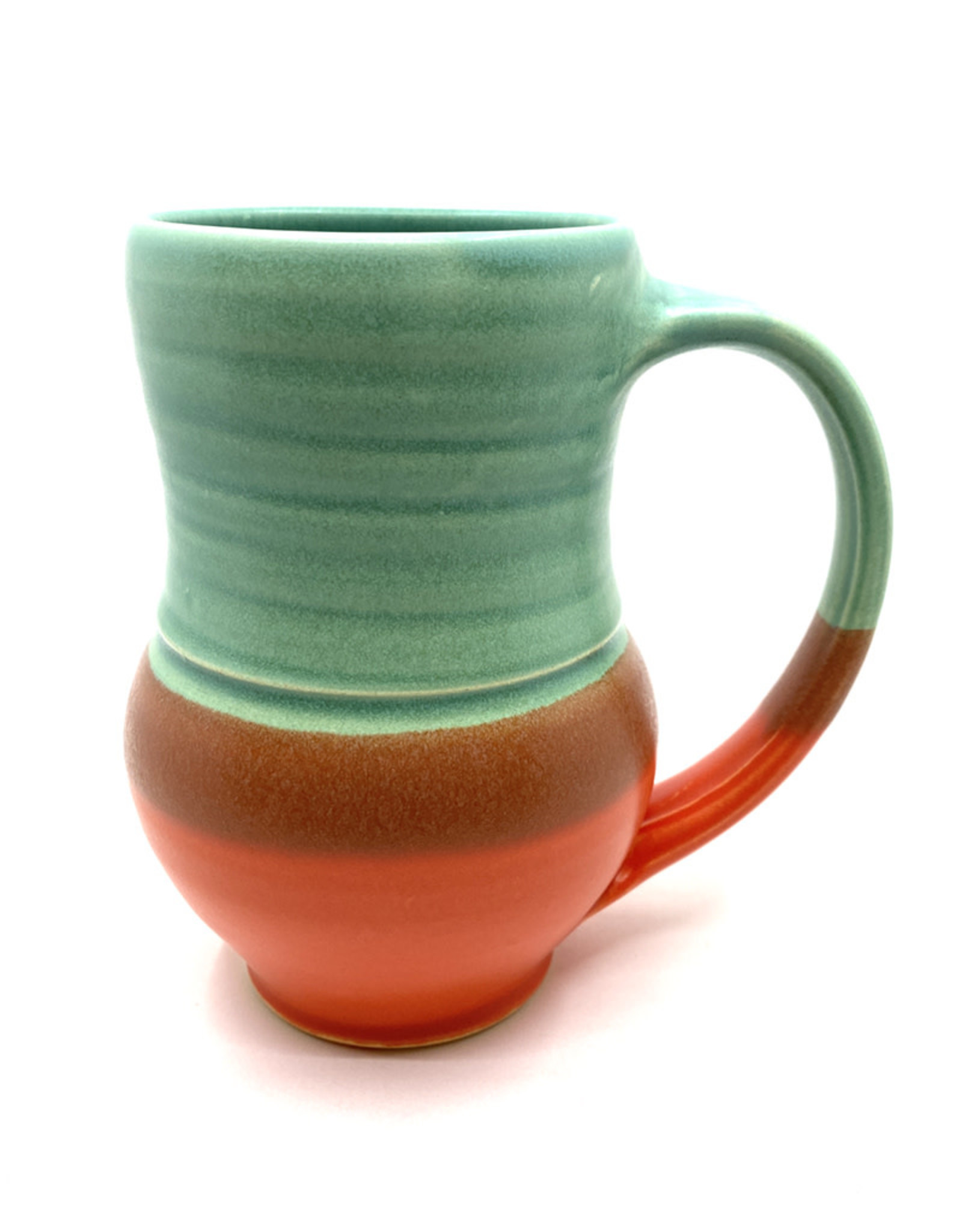 ONE ACRE CERAMICS TULIP MUG - GREEN & RED