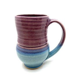 ONE ACRE CERAMICS TULIP MUG - PURPLE & LIGHT BLUE