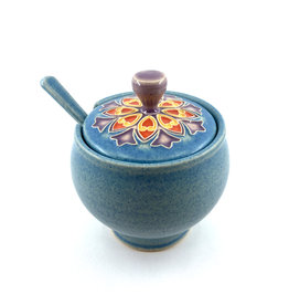 ONE ACRE CERAMICS SONNET SUGAR BOWL - LIGHT BLUE