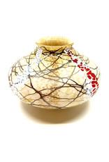 VINES ART GLASS CHERRY BLOSSOM SEED POT