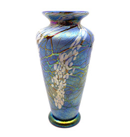 VINES ART GLASS MEDIUM TRADITIONAL MAGNOLIA VASE