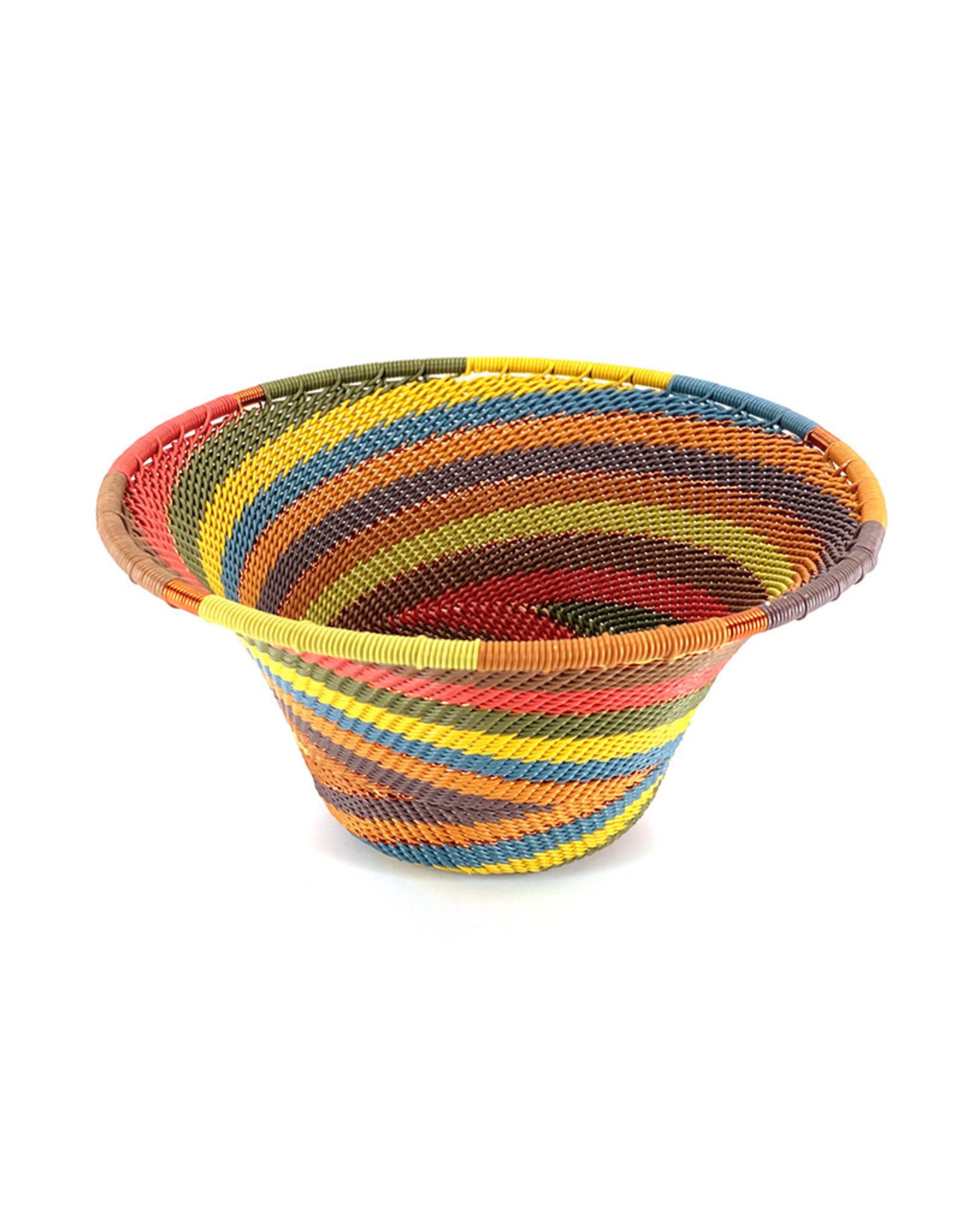 BASKETS OF AFRICA SMALL EARTH RAINBOW FUNNEL BASKET