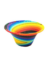 BASKETS OF AFRICA SMALL RAINBOW FUNNEL BASKET