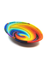 BASKETS OF AFRICA SMALL RAINBOW OVAL BASKET