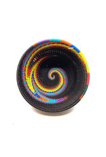 BASKETS OF AFRICA SMALL BLACK RAINBOW BOWL