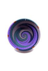 BASKETS OF AFRICA SMALL PURPLE BOWL