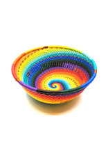 BASKETS OF AFRICA SMALL RAINBOW WIDE BOWL