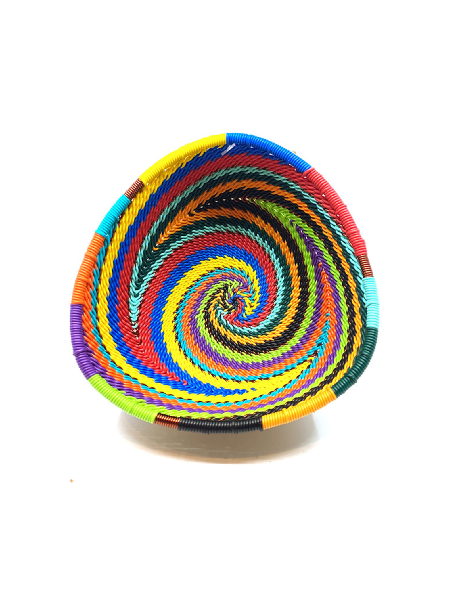 BASKETS OF AFRICA SMALL RAINBOW TRIANGLE BOWL