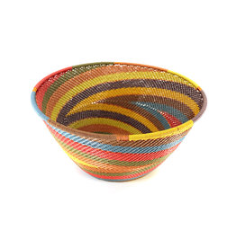 BASKETS OF AFRICA EARTH RAINBOW DEEP BOWL
