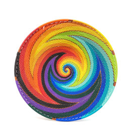 BASKETS OF AFRICA MEDIUM RAINBOW PLATTER