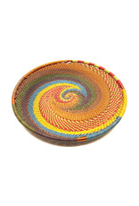 BASKETS OF AFRICA SMALL EARTH RAINBOW PLATE