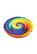 BASKETS OF AFRICA SMALL RAINBOW PLATE