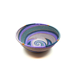 BASKETS OF AFRICA MEDIUM PURPLE BOWL
