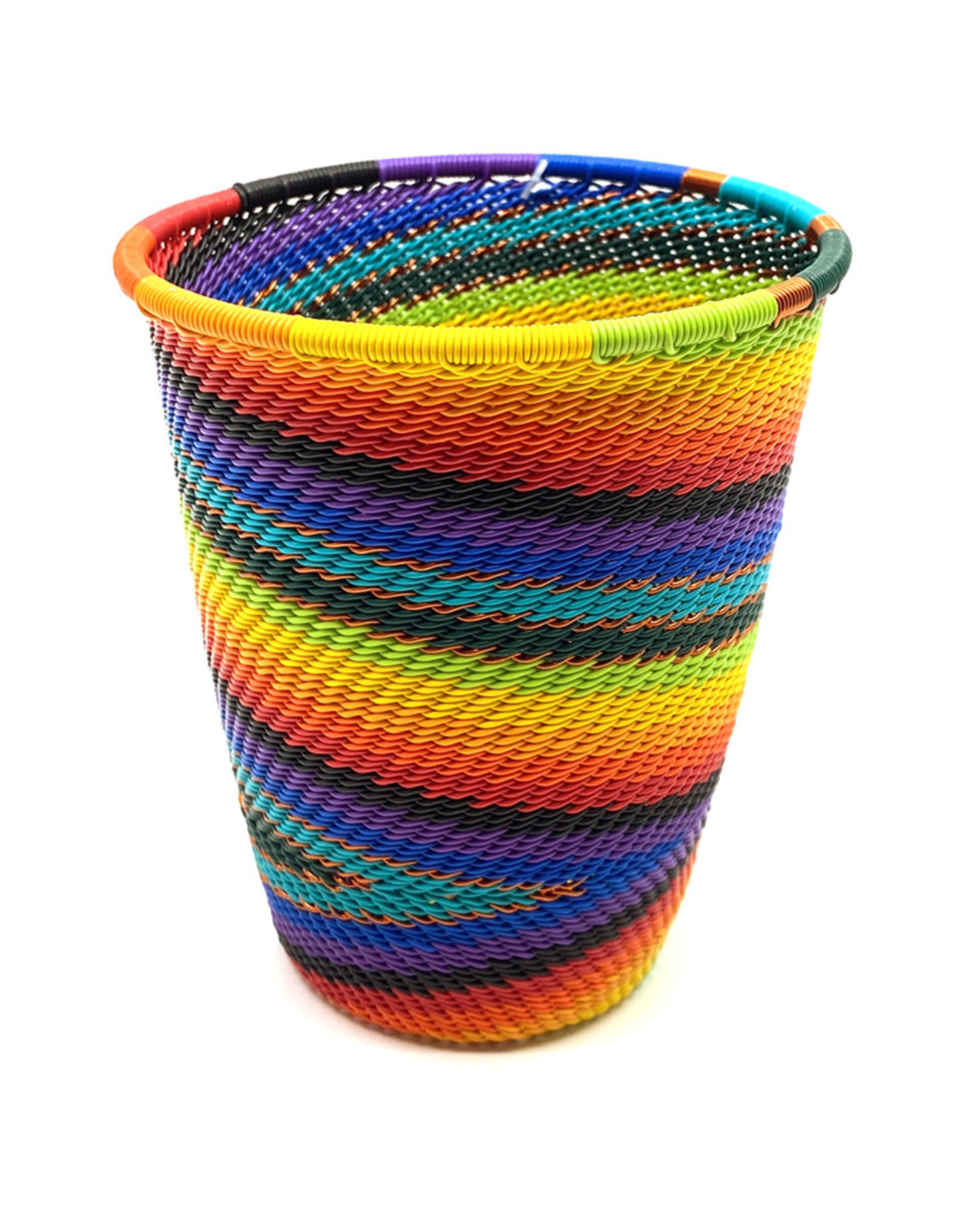 BASKETS OF AFRICA TALL RAINBOW CUP/PENCIL HOLDER