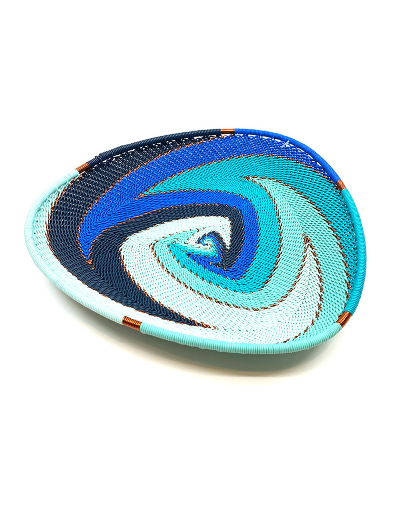 BASKETS OF AFRICA SMALL OCEAN TRIANGLE PLATE