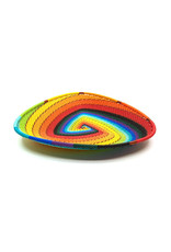 BASKETS OF AFRICA SMALL RAINBOW TRIANGLE PLATE