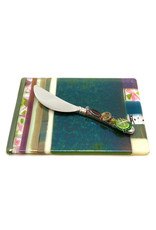 ME 2 U EARTH CHEESE PLATE WITH BEADED SPREADER