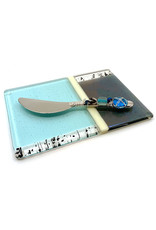 ME 2 U SILVER DOVE CHEESE PLATE WITH BEADED SPREADER