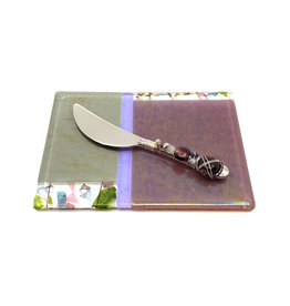 ME 2 U VIOLA CHEESE PLATE WITH BEADED SPREADER