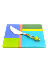 ME 2 U SUMMER BREEZE CHEESE PLATE WITH BEADED SPREADER