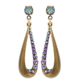 ANNE KOPLIK DESIGNS LAVENDER RAINDROP EARRINGS