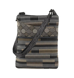 MARUCA ZEN BLACK CROSSBODY POCKET BAG