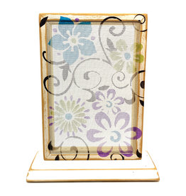 EARRING HOLDER GALLERY FLORAL SCROLL EARRING HOLDER WITH BASE