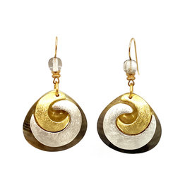 JOHN MICHAEL RICHARDSON COUPLED CRESCENTS EARRINGS