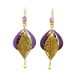 JOHN MICHAEL RICHARDSON DEW ON A LEAF EARRINGS