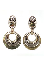 JOHN MICHAEL RICHARDSON FILIGREE MOONS EARRINGS