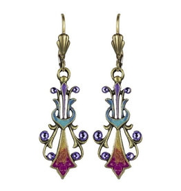 ANNE KOPLIK DESIGNS TANZANITE LYRE EARRINGS