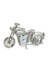 SANIS SILVER MOTORCYCLE MINIATURE CLOCK