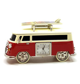 SANIS RED CAMPER VAN MINIATURE CLOCK