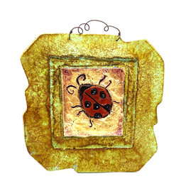 PAPER & STONE SMALL LADYBUG WALL PLAQUE