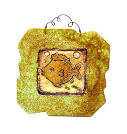 PAPER & STONE SMALL GOLDFISH WALL PLAQUE