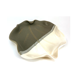 HILBORN POTTERY GRAY & WHITE SNACK DISH