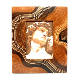 GRANT-NOREN 5X7 AGATE WAVE PICTURE FRAME