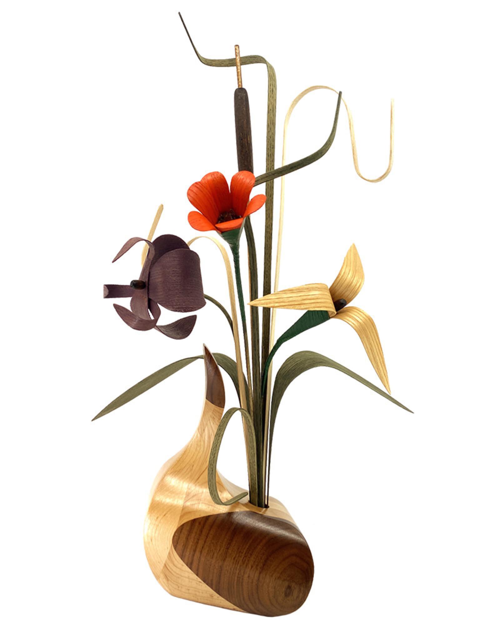 WOOD WILDFLOWERS MUDHEN WOOD FLOWER ARRANGEMENT