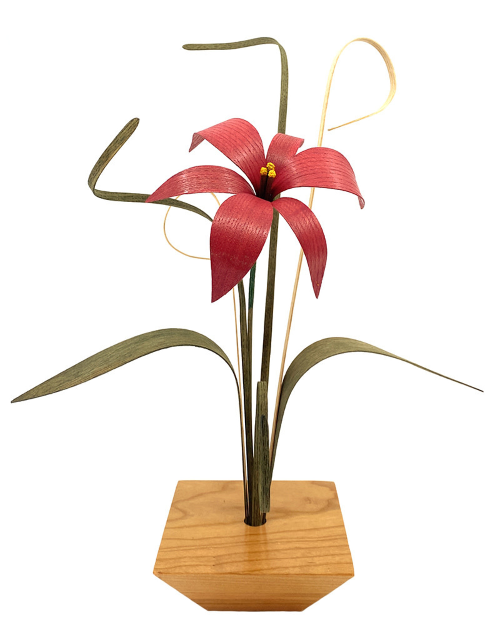 WOOD WILDFLOWERS SIMPLY ZEN WOOD FLOWER ARRANGEMENT WITH 1 MAUVE LILY