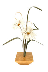 WOOD WILDFLOWERS SIMPLY ZEN WOOD FLOWER ARRANGEMENT WITH 2 DAISIES