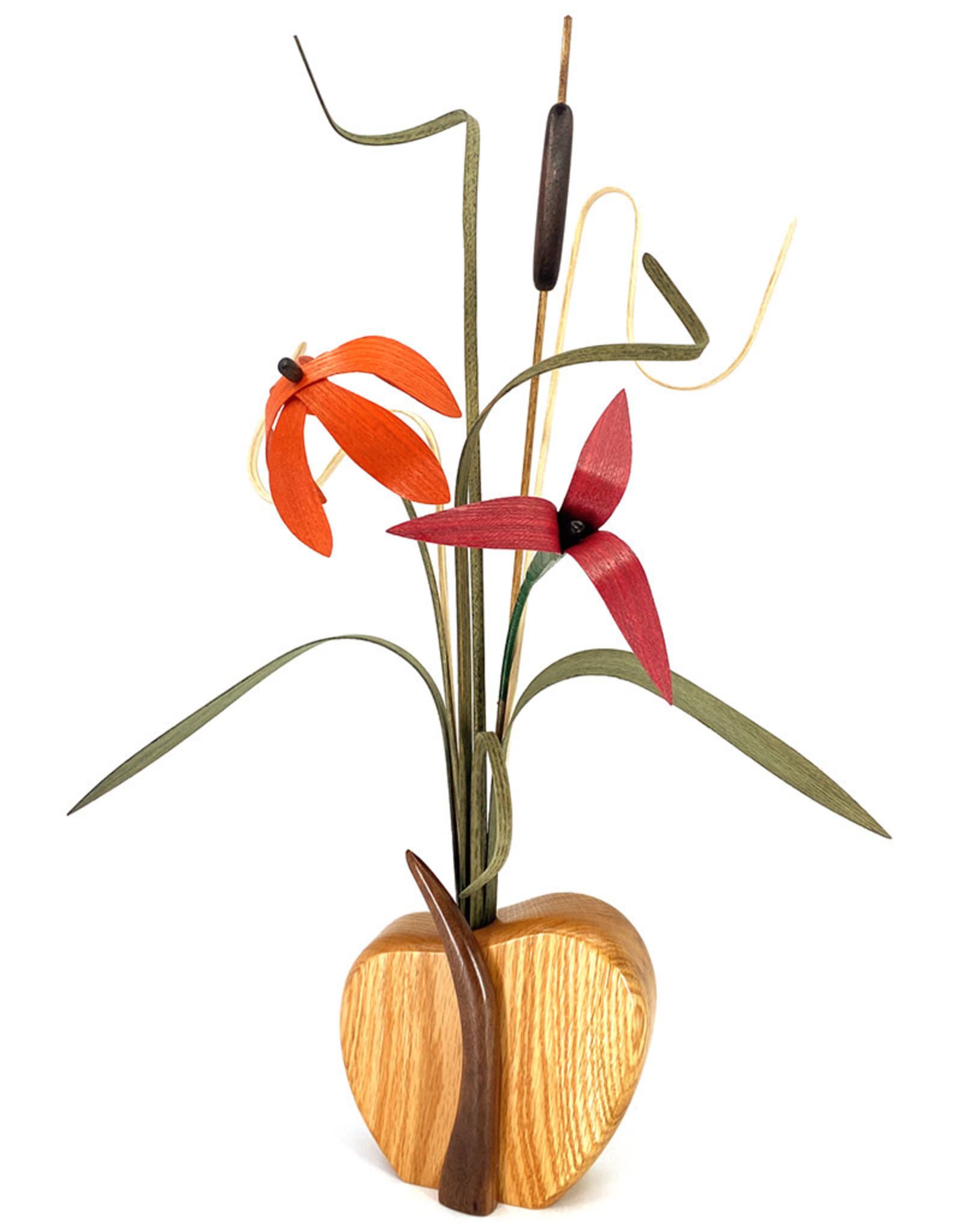 WOOD WILDFLOWERS SEEDLINGS I WOOD FLOWER ARRANGEMENT