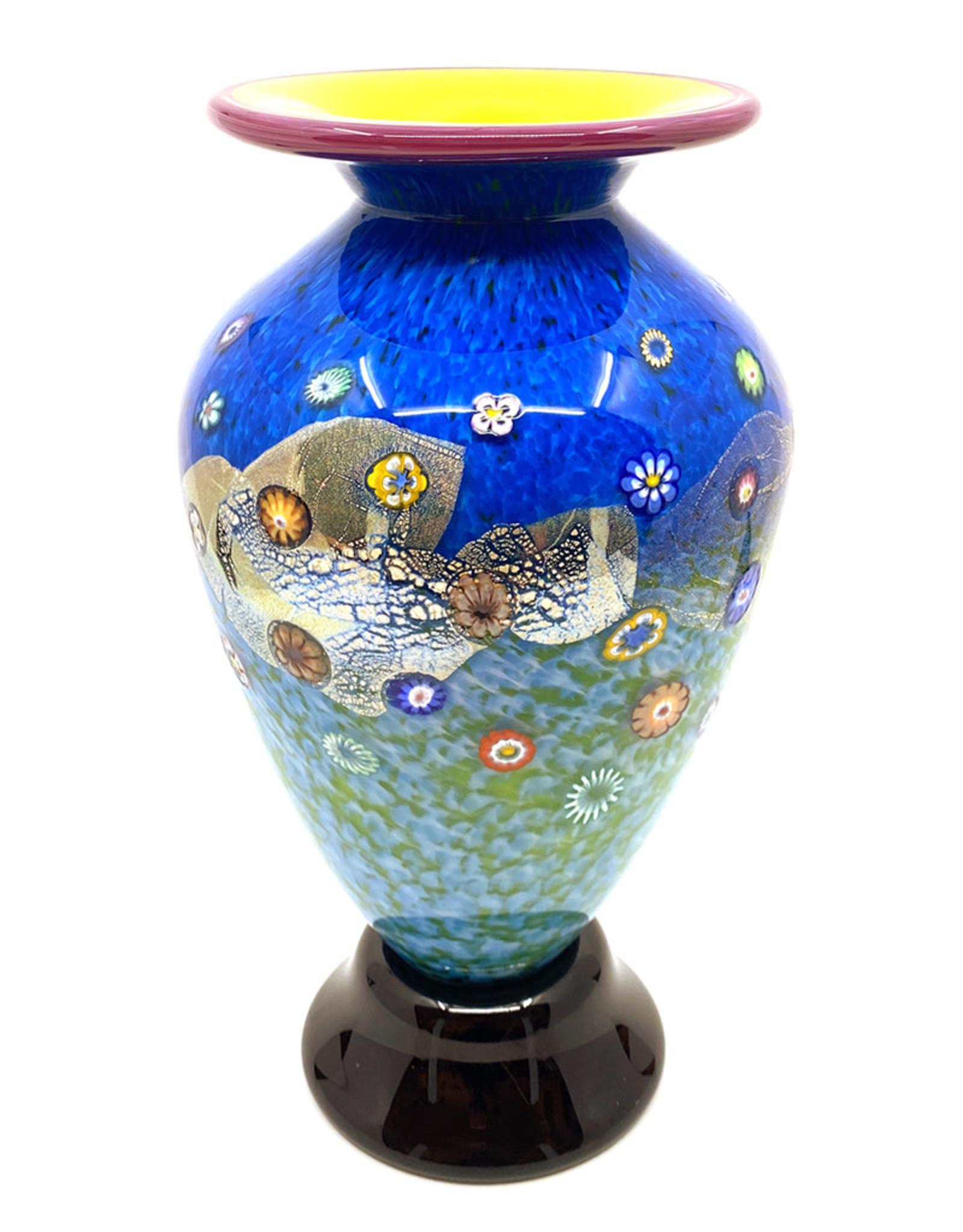HANSON & KASTLES ART GLASS MEADOW VASE