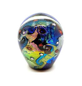 HANSON & KASTLES ART GLASS COSMIC PAPERWEIGHT