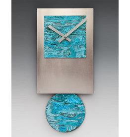 LEONIE LACOUETTE STEEL TIE WITH VERDI COPPER PENDULUM CLOCK