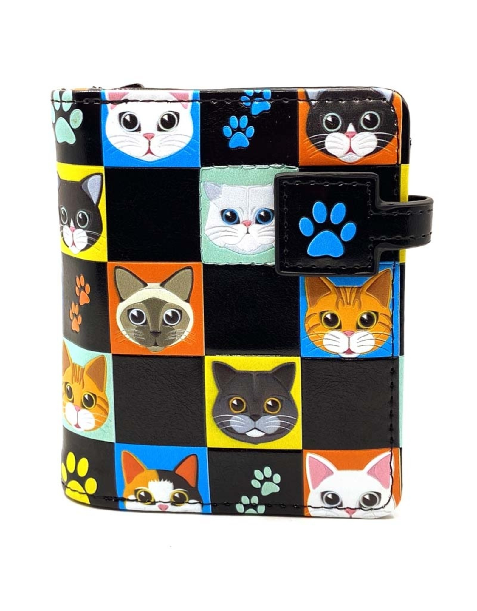 SHAGWEAR CAT CHECKERS SMALL WALLET
