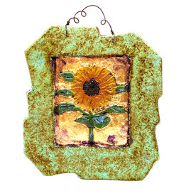 PAPER & STONE SMALL SUNFLOWER WALL PLAQUE